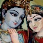 Радхарани с Сакхи готовит в Нандаграме