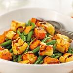 Салат из тыквы с фасолью