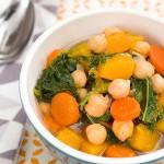 Овощной суп из нута с лапшой
