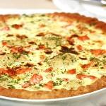 Открытый пирог с брокколи и цветной капустой