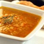 Суп с чечевицей, булгуром и вялеными помидорами