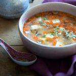Суп из красной чечевицы с тофу