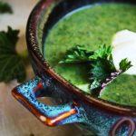Суп из крапивы, желе на агаре, печёные яблоки