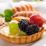Пирожные «корзиночка» с фруктами и творогом