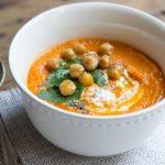 Суп-пюре из тыквы с нутом