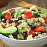 Тёплый рисовый салат