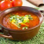 Сытный суп с адыгейским сыром